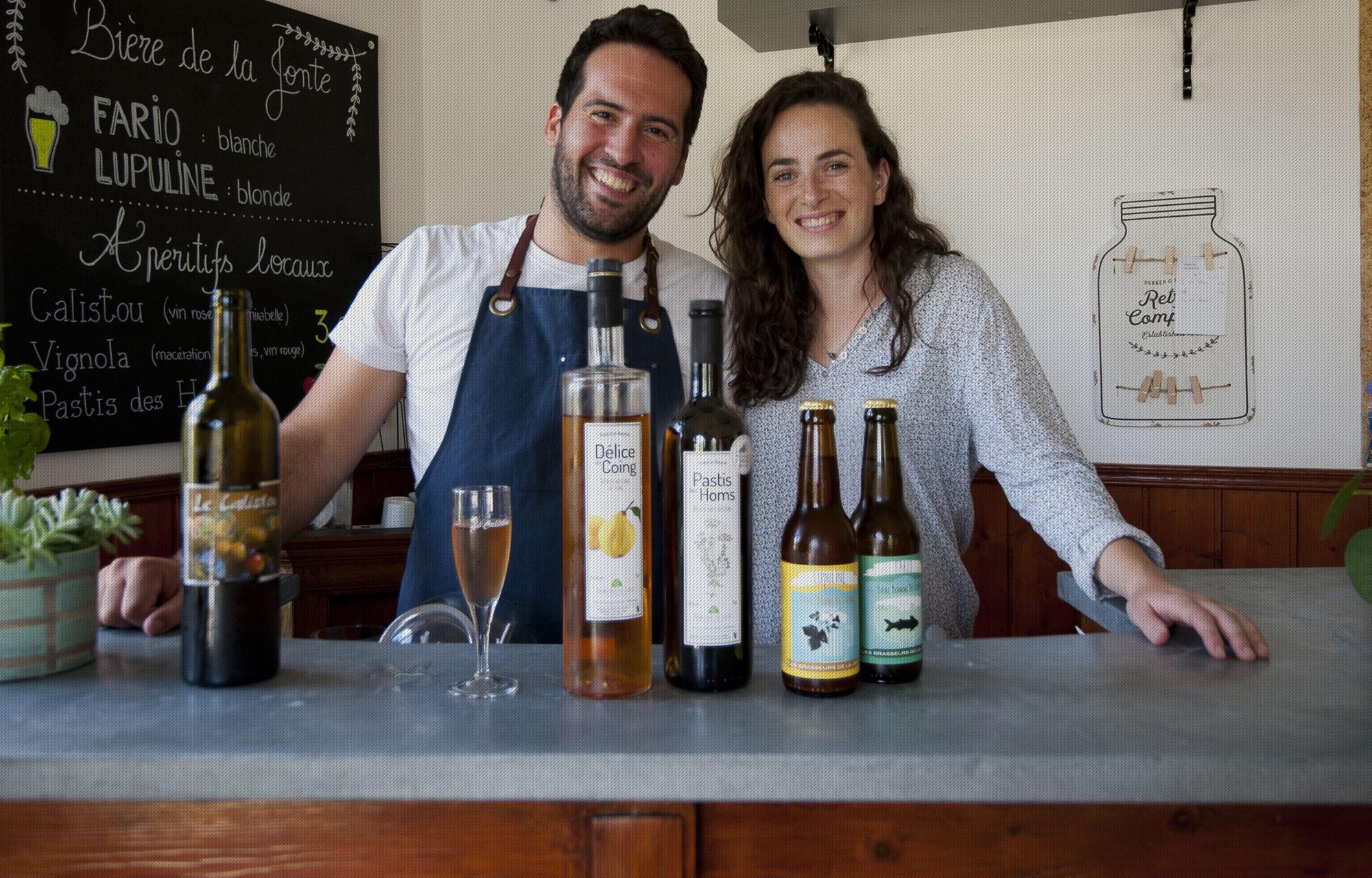 Gîte Évolutions Bieres de la jonte et apéritifs locaux artisanaux