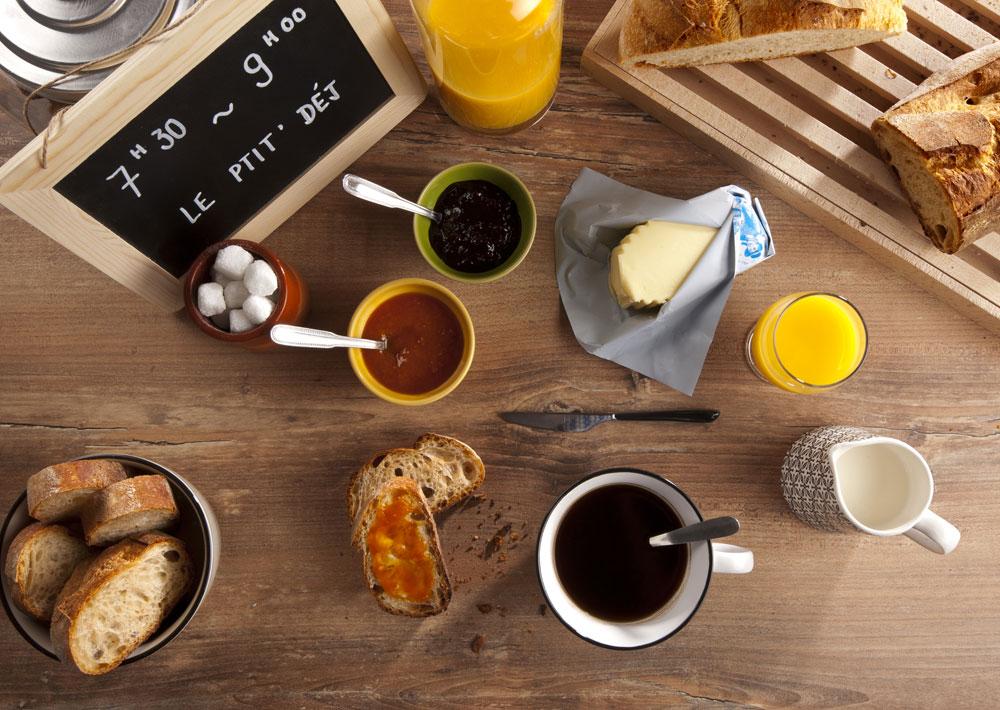 Gîte Évolutions petit-dejeuner vacances