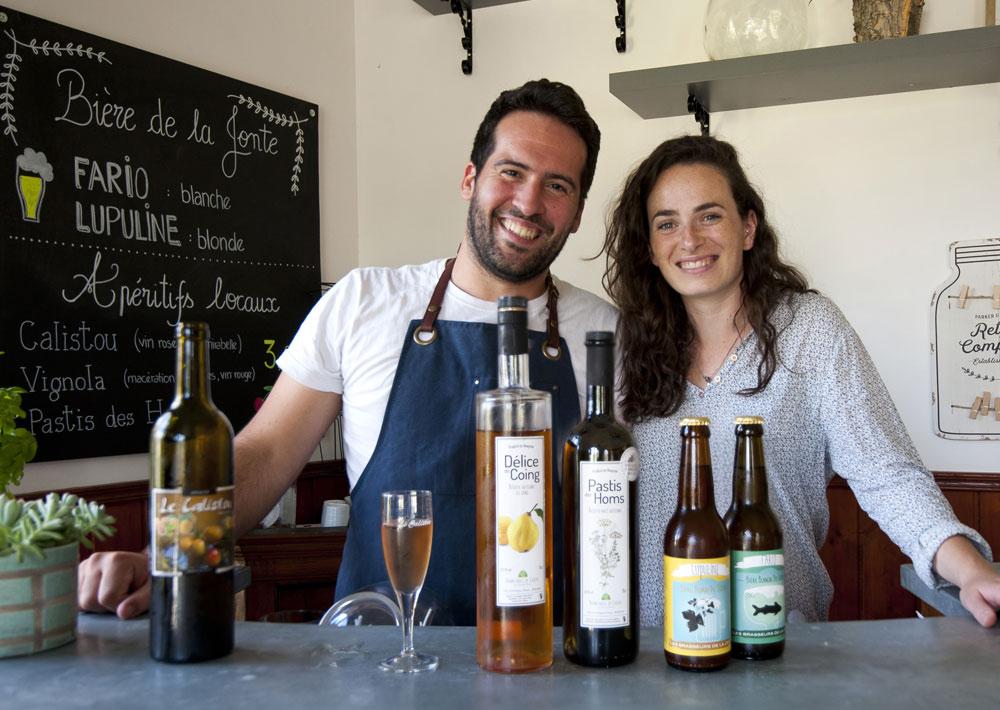 Gîte Évolutions bieres et alcools locaux artisanales