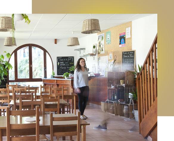 Gîte Évolutions salle restaurant vue panoramique